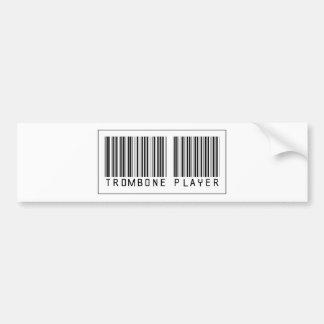Barcode Trombone Player Car Bumper Sticker