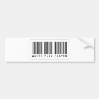 Barcode Water Polo Player Bumper Stickers