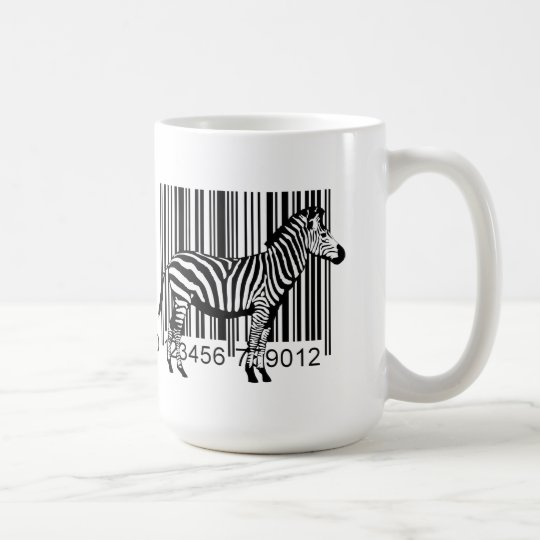 Barcode Zebra illustration Coffee Mug