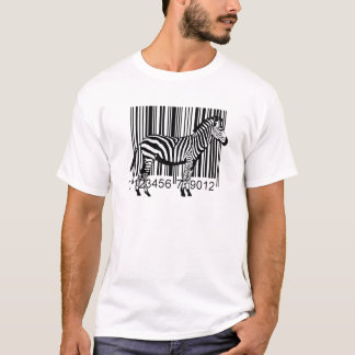 Barcode Zebra illustration Funny T-shirt