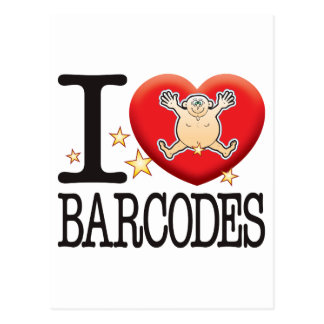 Barcodes Love Man Postcard