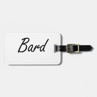 Bard Artistic Job Design Luggage Tag