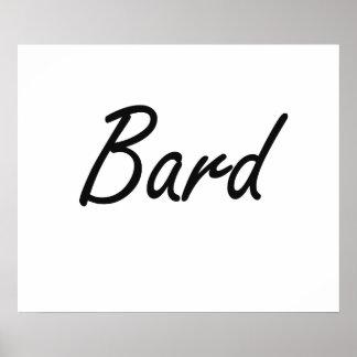 Bard Artistic Job Design Poster