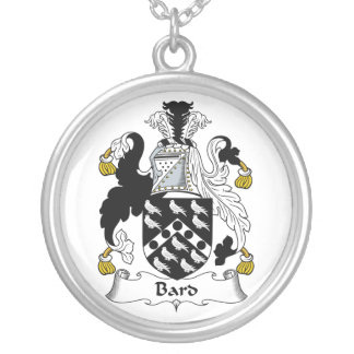 Bard Family Crest Round Pendant Necklace
