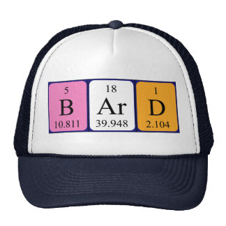 Bard periodic table name hat