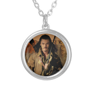 BARD THE BOWMAN™ Framed Graphic Silver Plated Necklace