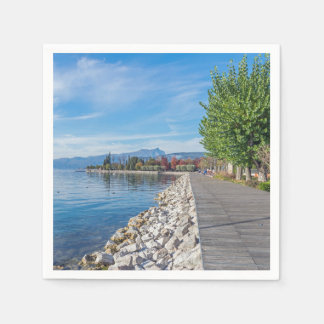 Bardolino promenade on Lake Garda Paper Napkin