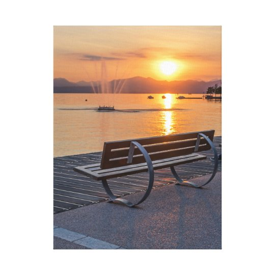 Bardolino, sunset on Lake Garda canvas print