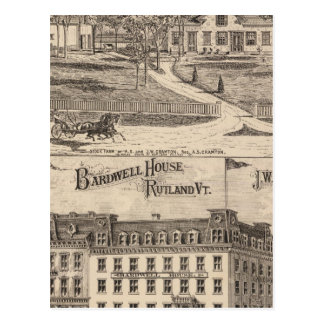 Bardwell House in Rutland Vermont Postcard