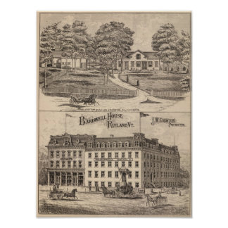 Bardwell House in Rutland Vermont Poster