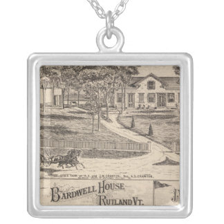Bardwell House in Rutland Vermont Silver Plated Necklace