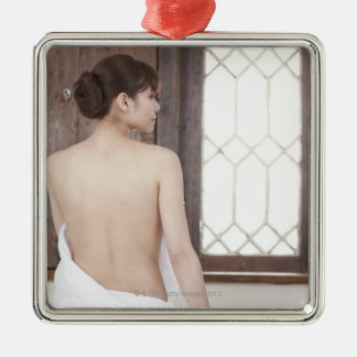 Bare Back of Young Woman Christmas Ornament