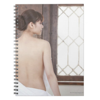 Bare Back of Young Woman Spiral Notebook