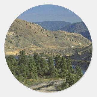 Bare Mountains Round Sticker