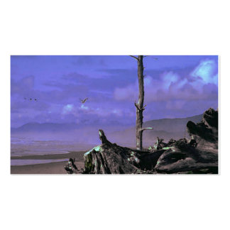 Bare Tree and Driftwood on a Coastal Shoreline Pack Of Standard Business Cards