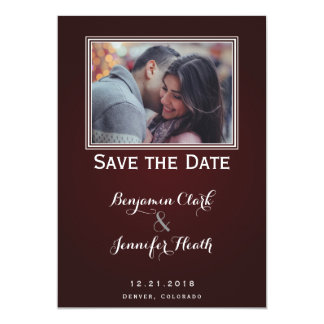 Bare Tree on Deep Red Save the Date Card