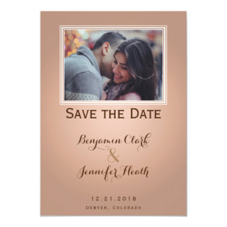 Bare Tree on Orange Cream Save the Date Card