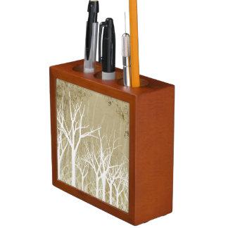 Bare Winter Trees Desk Organiser