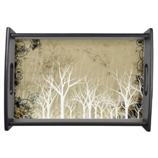 Bare Winter Trees Serving Tray