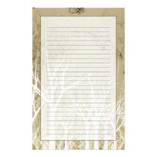 Bare Winter Trees Stationery