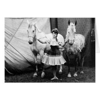 Bareback Girl: 1904 Card