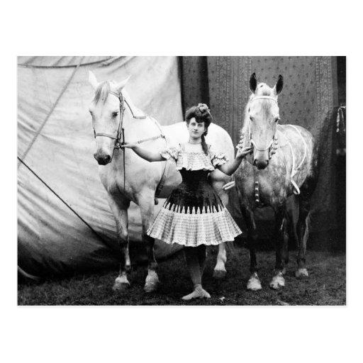 Bareback Girl: 1904 Postcards