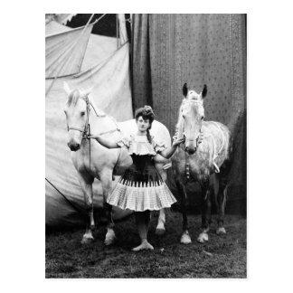 Bareback Girl 1904 Postcard