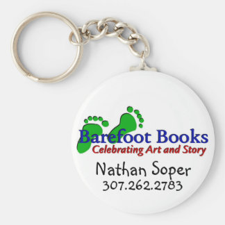 Barefoot Books by Nathan Basic Round Button Key Ring