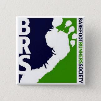 Barefoot Runners Soc Avatar Logo White Foot Square 15 Cm Square Badge