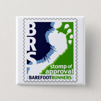 Barefoot Runners Society Stomp of Approval Square 15 Cm Square Badge