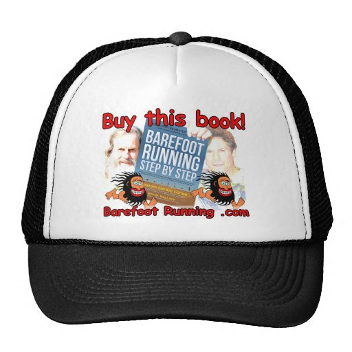 Barefoot Running Step by Step - Buy this Book! Mesh Hats