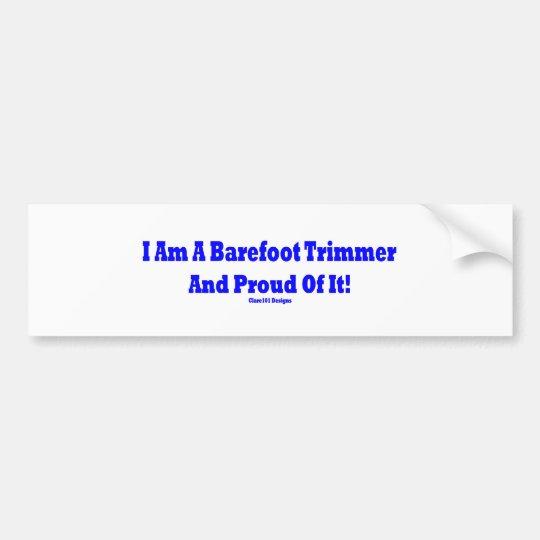 Barefoot trimmer bumper sticker