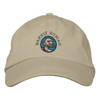 BARELY HUMAN EMBROIDERED HAT