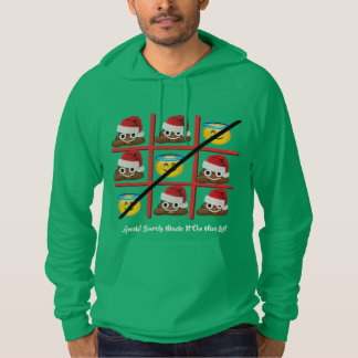 barely made nice list christmas funny men's hoodie