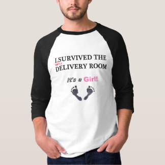 Barely Survived Delivery, GIRL, Baseball Jersey T-Shirt
