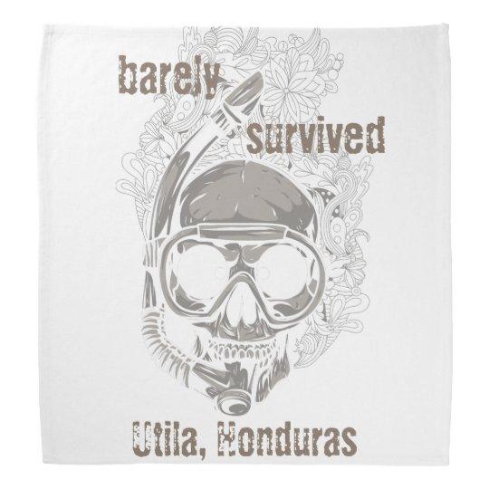 barely survived Utila Honduras Skull Diver Diving Bandana