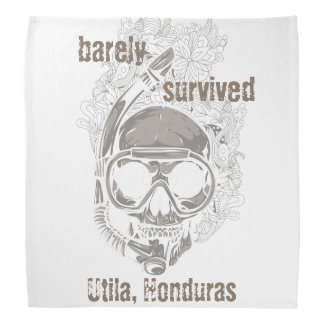 barely survived Utila Honduras Skull Diver Diving Bandanas