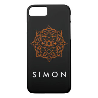 Barely There Orange Damask pattern on iPhone case