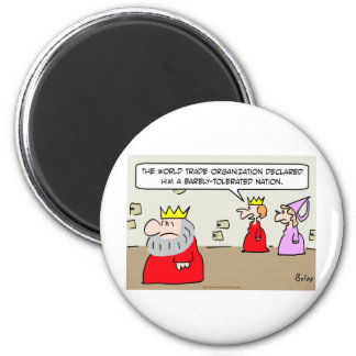 barely tolerated nation king queen fridge magnet