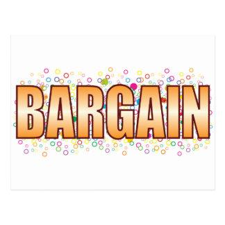 Bargain Bubble Tag Postcard