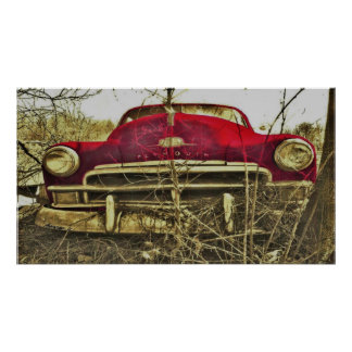 BargasArtworks Red Plymouth Deluxe Print