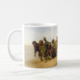 Barge Haulers on the Volga by Ilya Y. Repin Basic White Mug