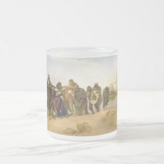 Barge Haulers on the Volga by Ilya Y. Repin Frosted Glass Mug