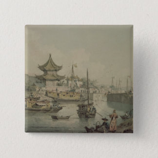 Barges of Lord Macartney's Embassy to China 15 Cm Square Badge