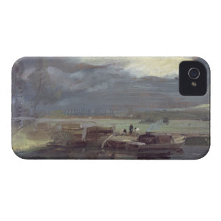 Barges on the Stour with Dedham Church in the Dist Case-Mate iPhone 4 Case