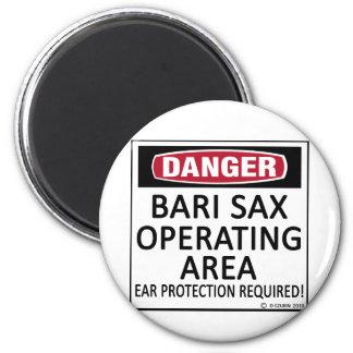 Bari Sax Operating Area Fridge Magnets