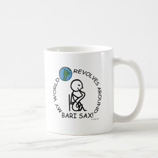 Bari Sax - World Revolves Around Mug