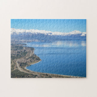 Bariloche Aerial View In Winter Jigsaw Puzzle