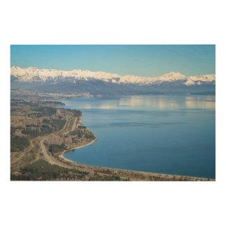 Bariloche Aerial View In Winter Wood Wall Decor