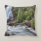 Baring Falls in Glacier National Park, Montana Cushion